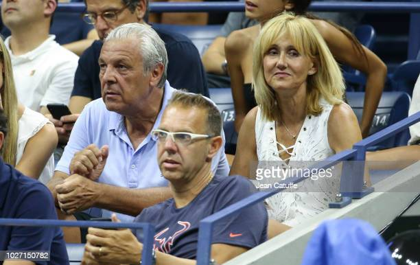 Sebastian Nadal and Ana Maria Parera parents of Rafael Nadal during day 9 of the 2018 tennis US Open on Arthur Ashe stadium at the USTA Billie Jean...