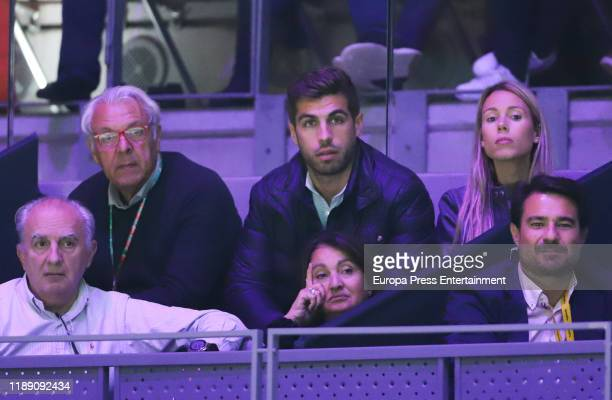 Sebastian Nadal and Maribel Nadal attend Copa Davis Finals at Caja Magica on November 20, 2019 in Madrid, Spain.