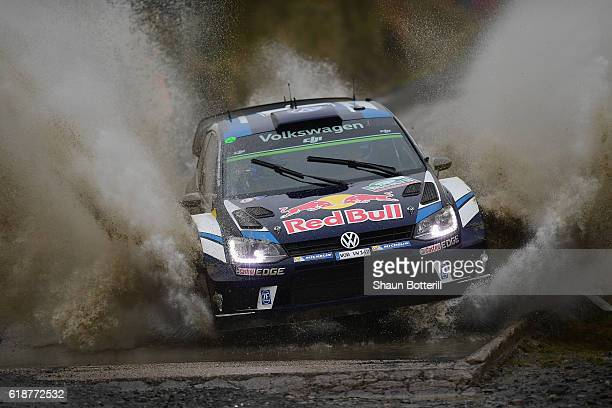 Sebastian Ogier and co driver Julien Ingrassia of France and Volkswagen Motorsport during the FIA World Rally Championship Great Britain Sweet Lamb...