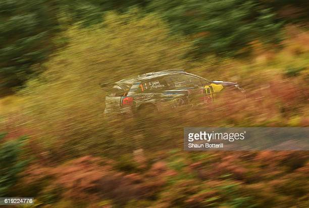 Sebastian Ogier and co driver Julien Ingrassia of France and Volkswagen Motorsport during the FIA World Rally Championship Great Britain Brenig stage...