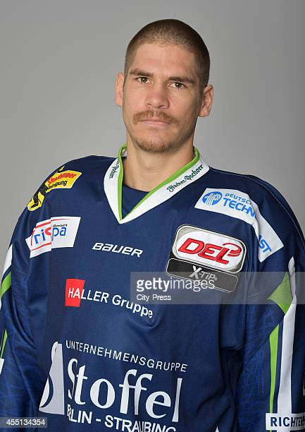 Sebastian Osterloh of Straubing Tigers during the portrait shot on august 15, 2014 in Straubing, Germany.