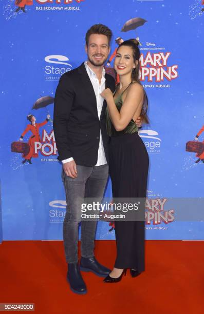 Sebastian Pannek and CleaLacy Juhn attend 'Mary Poppins' Musical Premiere at Stage Theater an der Elbe on February 25 2018 in Hamburg Germany
