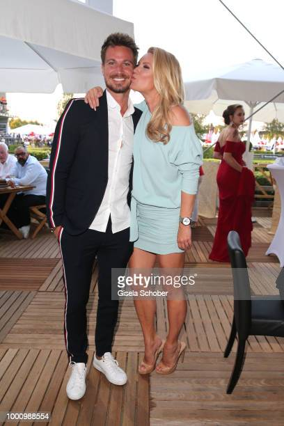Sebastian Pannek and his aunt Magdalena Brzeska during the media night of the CHIO 2018 on July 17, 2018 in Aachen, Germany.