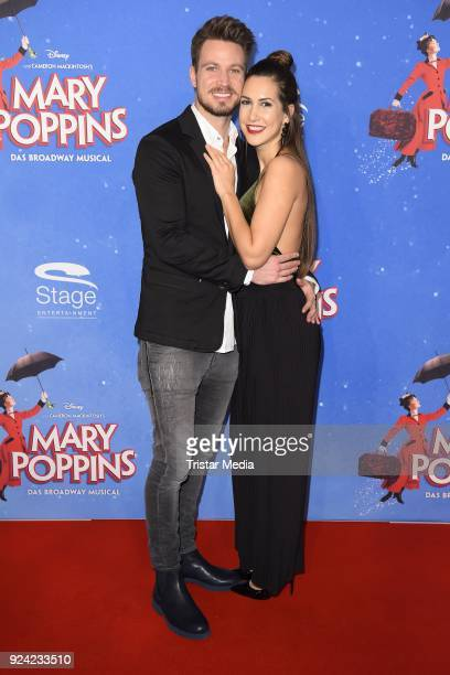 Sebastian Pannek and his girlfriend CleaLacy Juhn attend the 'Mary Poppins' Musical Premiere at Stage Theater on February 25 2018 in Hamburg Germany