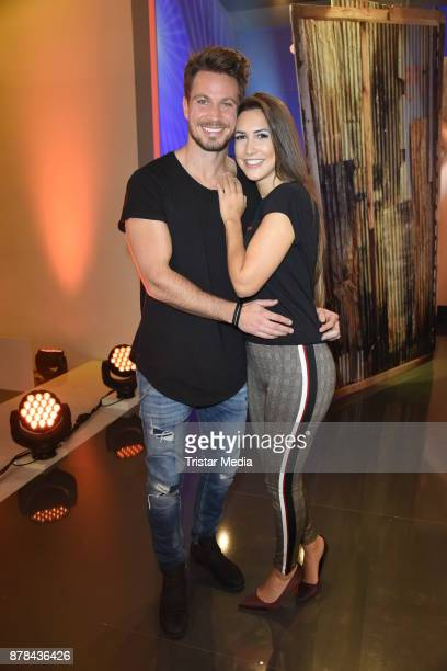 Sebastian Pannek and his girlfriend CleaLacy Juhn attend the RTL Telethon 2017 on November 24 2017 in Huerth Germany