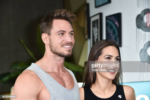 Sebastian Pannek and his girlfriend CleaLacy Juhn during John's Bootcamp Opening on May 2 2018 in Berlin Germany