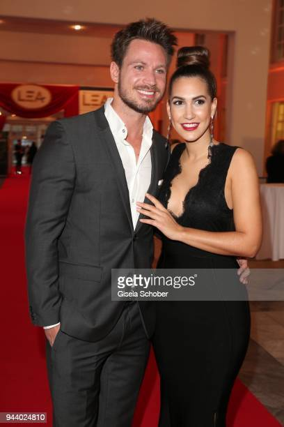 Sebastian Pannek and his girlfriend CleaLacy Juhn during the 13th Live Entertainment Award 2018 at Festhalle Frankfurt on April 9 2018 in Frankfurt...