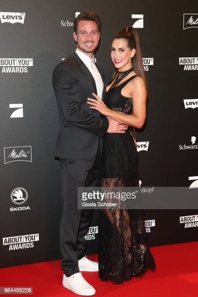 Sebastian Pannek and his girlfriend CleaLacy Juhn during the 2nd ABOUT YOU Awards 2018 at Bavaria Studios on May 3 2018 in Munich Germany