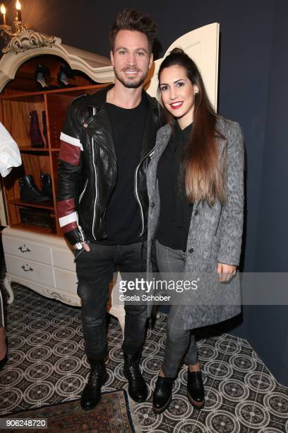 Sebastian Pannek and his girlfriend CleaLacy Juhn during the Marcel Ostertag Fashion Presentation at Schlueter Palais on January 17 2018 in Berlin...