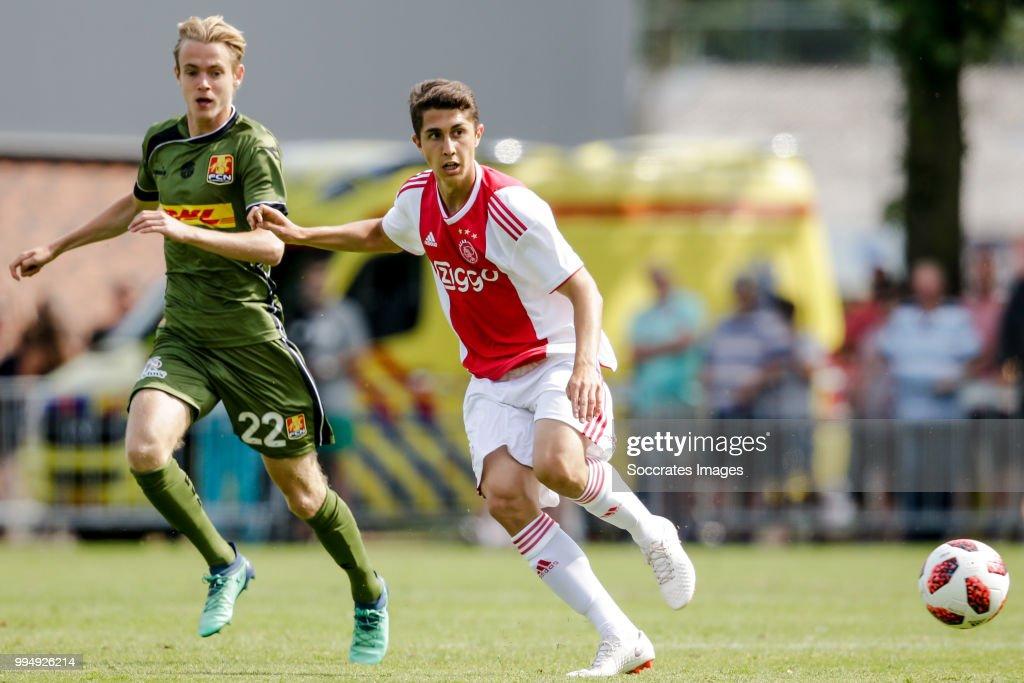 Sebastian Pasquali of Ajax during the Club Friendly match between Ajax v FC Nordsjaelland at the Sportpark Putter Eng on July 7, 2018 in Putten Netherlands