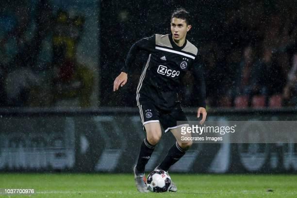Sebastian Pasquali of Ajax U23 during the Dutch Keuken Kampioen Divisie match between Go Ahead Eagles v Ajax U23 at the De Adelaarshorst on September...