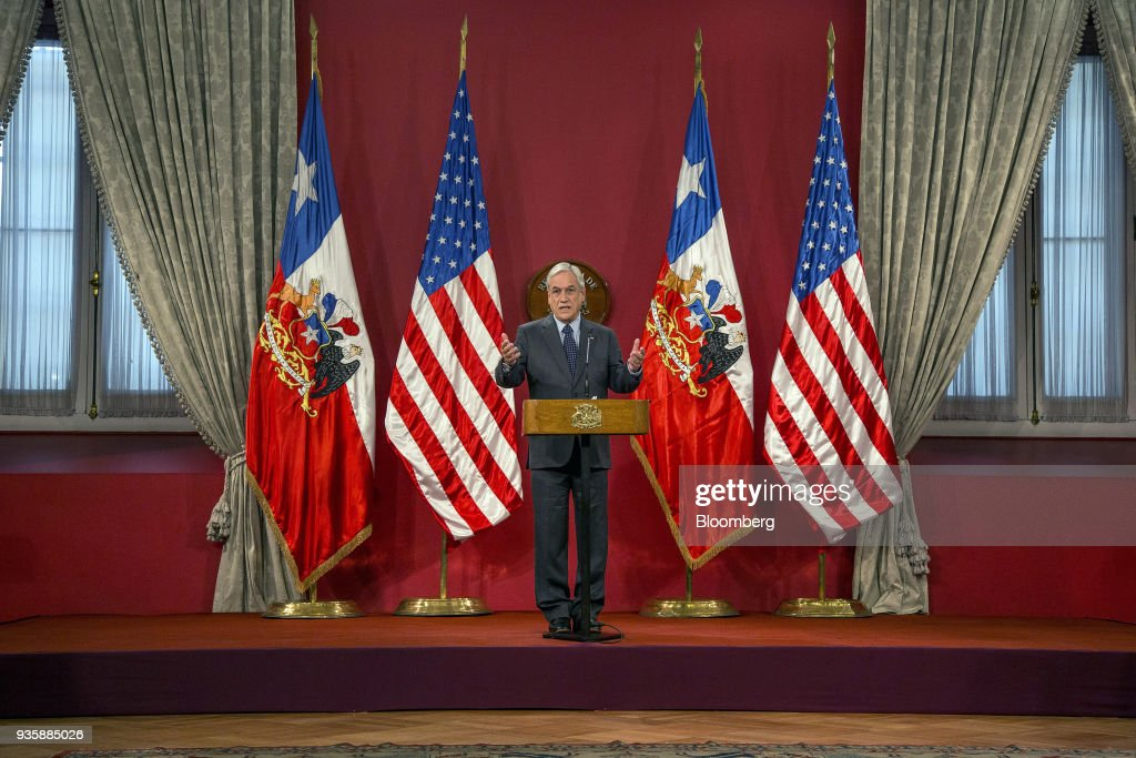 U.S. Treasury Secretary Mnuchin Meets With President Pinera And Finance Minister Felipe Larrain As Chile Calls On Intensifying Bilateral Relations
