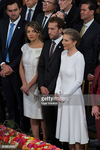 Sebastian Pinzon of Colombia, Maria Antonia Santos Rodriguez of Colombia and Martin Santos Rodriguez of Colombia, Maria Clemencia Rodriguez of...