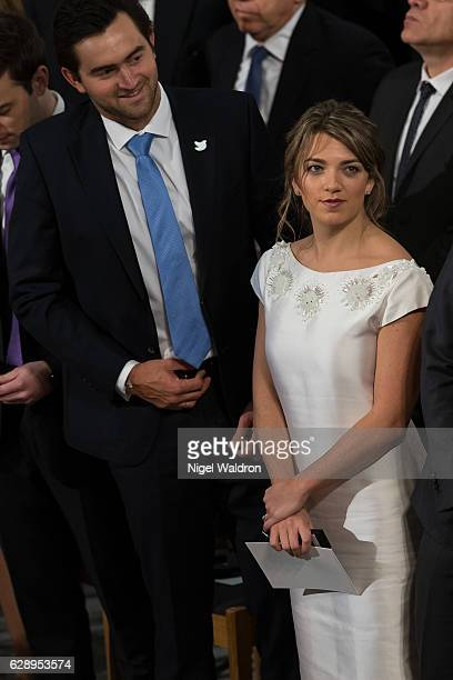 Sebastian Pinzon of Colombia, Maria Antonia Santos Rodriguez of Colombia attend the Nobel Peace Prize ceremony to honour this year's Nobel Peace...