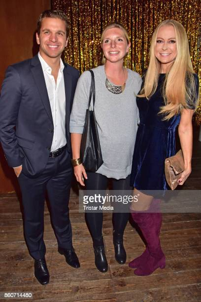 Sebastian Pollok LeaSophie Cramer and Jenny Elvers attend the Amorelie Christmas Calender Launch Dinner on October 12 2017 in Berlin Germany