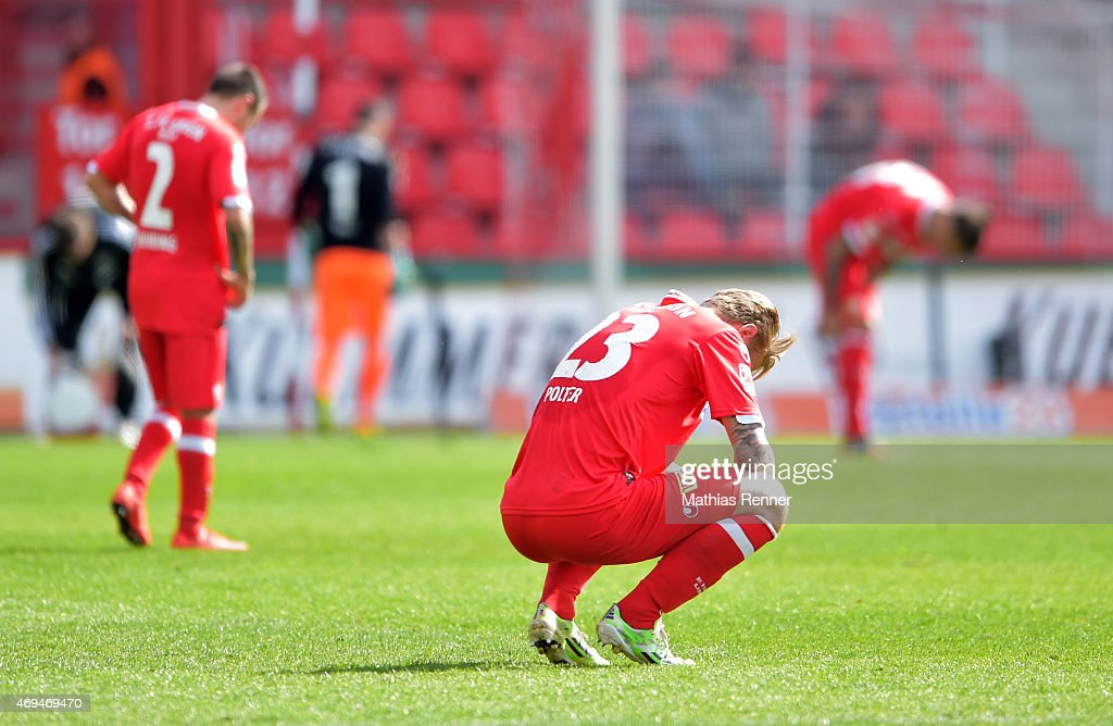 Sebastian Polter of 1 FC Union Berlin during the game between Union Berlin and VfR Aalen on april 12, 2015 in Berlin, Germany.