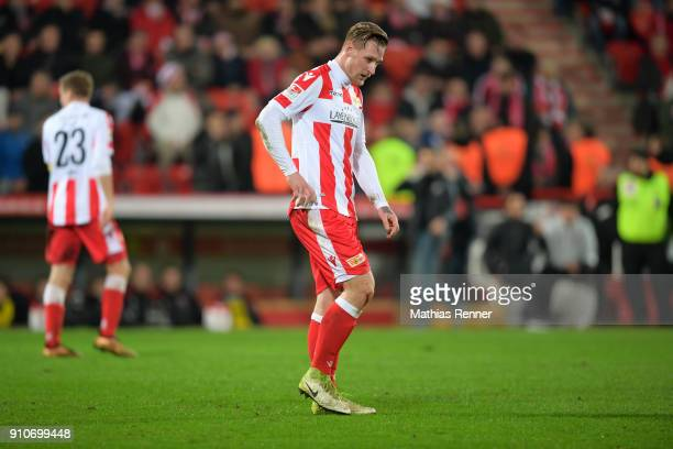 Sebastian Polter of 1FC Union Berlin after the game between Union Berlin and the 1 FC Nuernberg on january 26 2018 in Berlin Germany