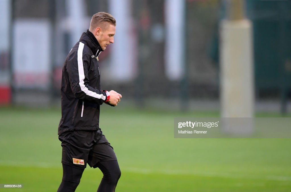 Sebastian Polter of 1.FC Union Berlin during the 1 FC Union Berlin training on December 6, 2017 in Berlin, Germany.