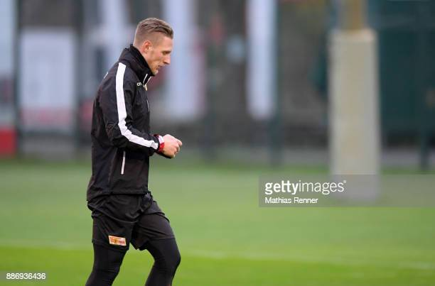 Sebastian Polter of 1FC Union Berlin during the 1 FC Union Berlin training on December 6 2017 in Berlin Germany