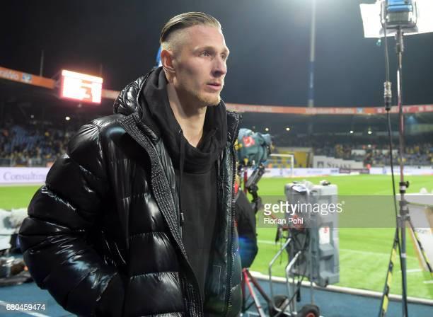 Sebastian Polter of 1FC Union Berlin during the game between Eintracht Braunschweig and dem 1 FC Union Berlin on may 8 2017 in Braunschweig Germany
