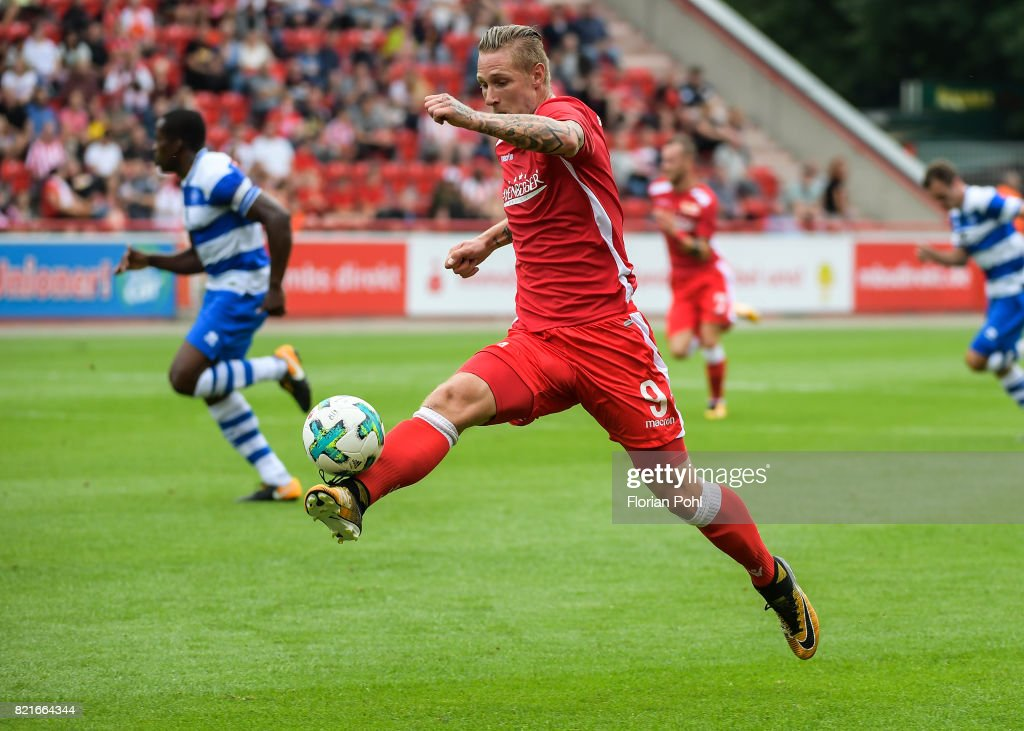 Sebastian Polter of 1.FC Union Berlin during the game between Union Berlin and the Queens Park Rangers on july 24, 2017 in Berlin, Germany.