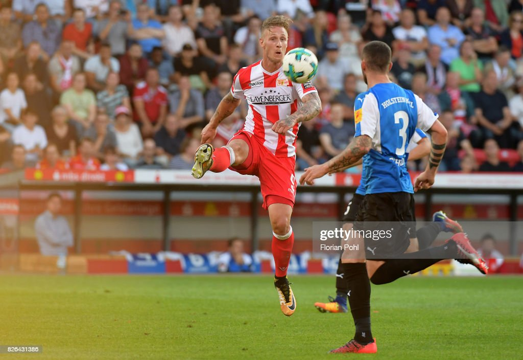 Sebastian Polter of 1.FC Union Berlin during the game between Union Berlin and Kieler SV Holstein on august 4, 2017 in Berlin, Germany.