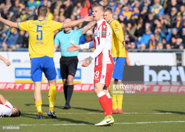 Sebastian Polter of 1FC Union Berlin during the second Bundesliga match between Eintracht Braunschweig and Union Berlin on February 18 2018 at...