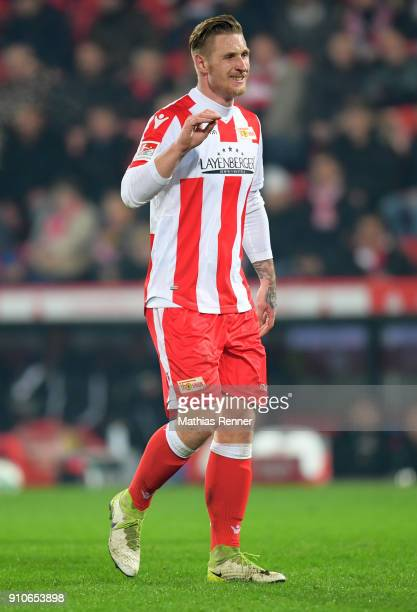 Sebastian Polter of 1FC Union Berlin reacts during the game between Union Berlin and the 1 FC Nuernberg on january 26 2018 in Berlin Germany