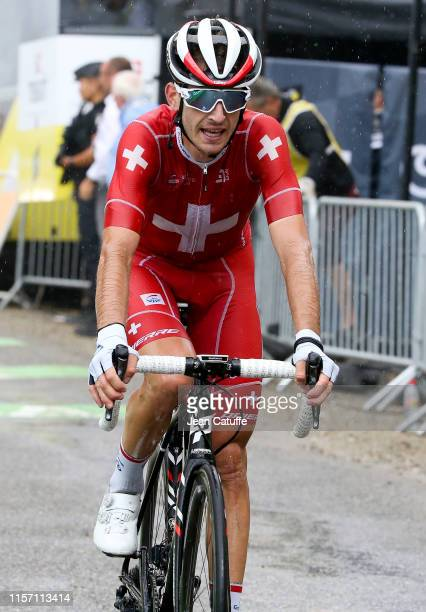 Sebastian Reichenbach of Switzerland and Groupama-FDJ crosses the finish line during stage 15 of the 106th Tour de France 2019, a stage from Limoux...