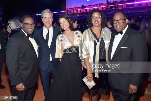 Sebastian RidleyThomas LACMA CEO and Director Michael Govan and Katherine Ross both wearing Gucci Robin Coste Lewis and LA County Supervisor Mark...