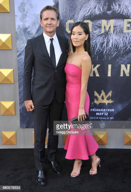 Sebastian Roche and Alicia Hannah arrive at the premiere of Warner Bros Pictures' King Arthur Legend Of The Sword at TCL Chinese Theatre on May 8...