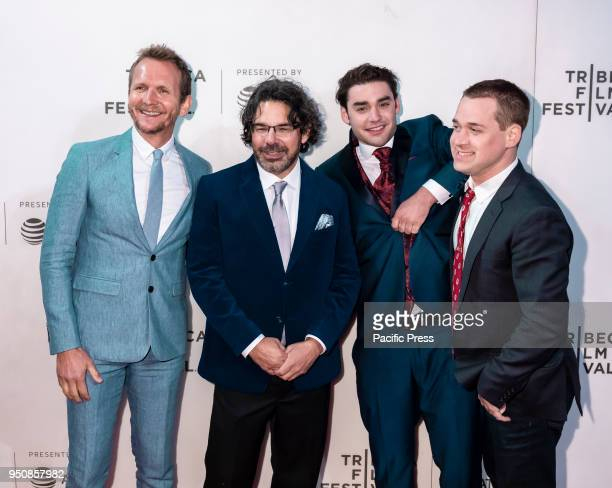 Sebastian Roche Ken Biller Alex Rich and TR Knight attend screening of Genius Picasso' during the 2018 Tribeca Film Festival at BMCC Tribeca PAC...