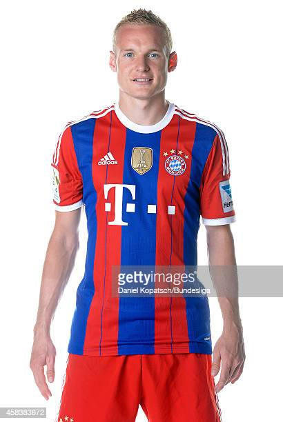 Sebastian Rode poses during the FC Bayern Muenchen Team Presentation for DFL on August 9 2014 in Munich Germany