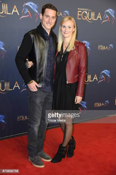 Sebastian Rudy and his wife Elena Rudy during the world premiere of the horse show 'EQUILA' at Apassionata Showpalast Muenchen on November 5 2017 in...