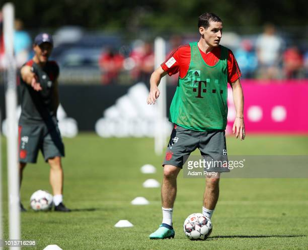 Sebastian Rudy of Bayern Munich in action during FC Bayern Muenchen pre season training on August 9, 2018 in Rottach-Egern, Germany.