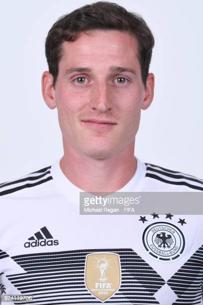 Sebastian Rudy of Germany pose for a photo during the official FIFA World Cup 2018 portrait session on June 13 2018 in Moscow Russia