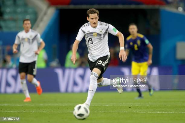 Sebastian Rudy of Germany runs with the ball during the 2018 FIFA World Cup Russia group F match between Germany and Sweden at Fisht Stadium on June...