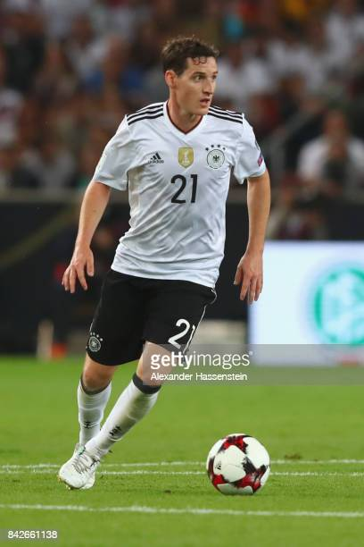 Sebastian Rudy of Germany runs with the ball during the FIFA 2018 World Cup Qualifier between Germany and Norway at MercedesBenz Arena on September 4...