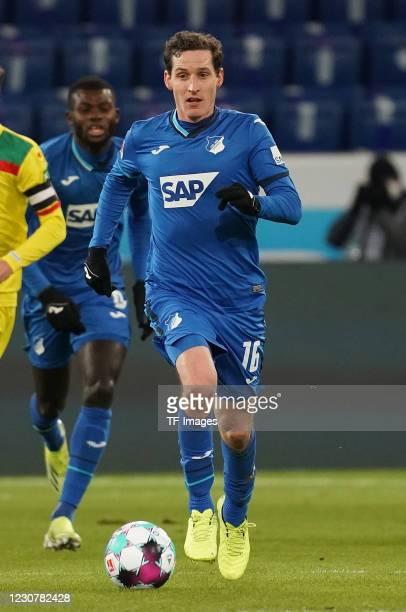 Sebastian Rudy of Hoffenheim during the Bundesliga match between TSG Hoffenheim and 1. FC Koeln at PreZero-Arena on January 24, 2021 in Sinsheim,...