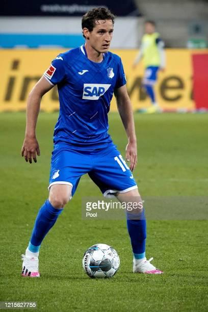 Sebastian Rudy of Hoffenheim in action during the Bundesliga match between TSG 1899 Hoffenheim and 1 FC Koeln at PreZeroArena on May 27 2020 in...