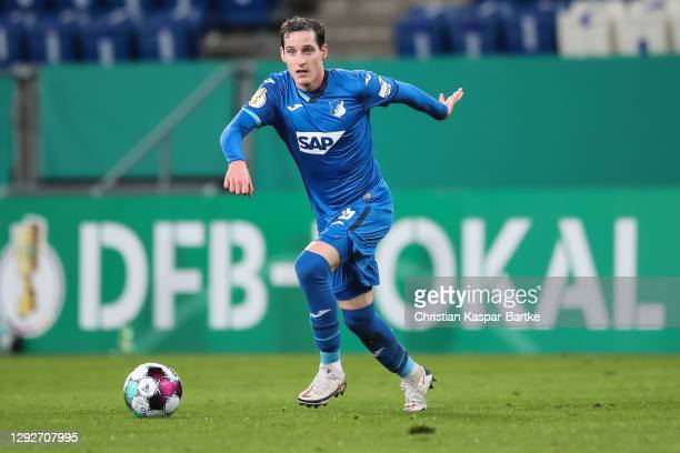 Sebastian Rudy of TSG 1899 Hoffenheim in action during the DFB Cup second round match between TSG Hoffenheim and SpVgg Greuther Fuerth at...