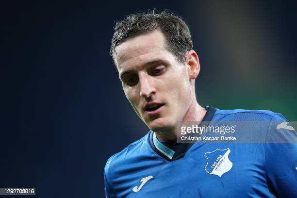 Sebastian Rudy of TSG 1899 Hoffenheim looks on during the DFB Cup second round match between TSG Hoffenheim and SpVgg Greuther Fuerth at...
