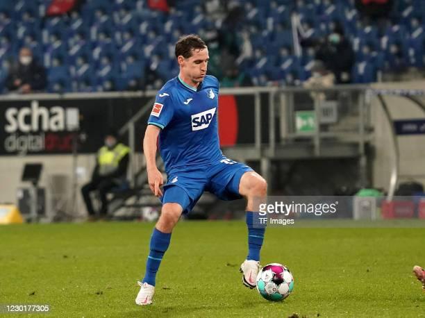 Sebastian Rudy of TSG Hoffenheim during the Bundesliga match between TSG Hoffenheim and RB Leipzig at PreZero-Arena on December 16, 2020 in Sinsheim,...