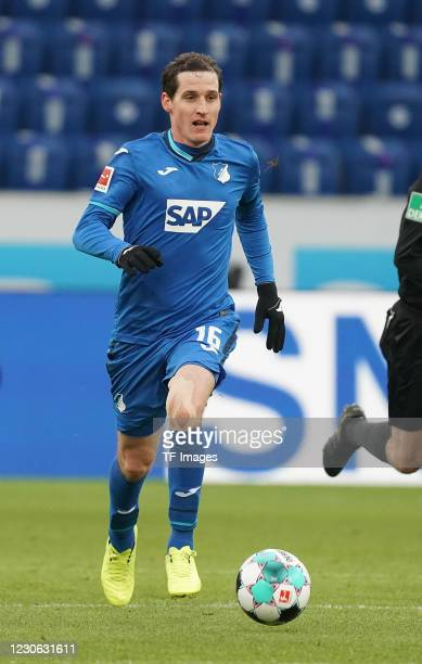 Sebastian Rudy of TSG Hoffenheim during the Bundesliga match between TSG Hoffenheim and DSC Arminia Bielefeld at PreZero-Arena on January 16, 2021 in...