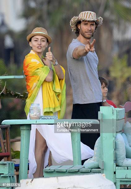 Sebastian Rulli and Angelique Boyer are seen on October 3 2016 in Marbella Spain
