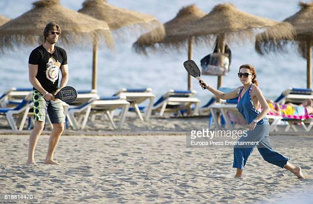 Sebastian Rulli and Angelique Boyer are seen on October 5 2016 in Marbella Spain