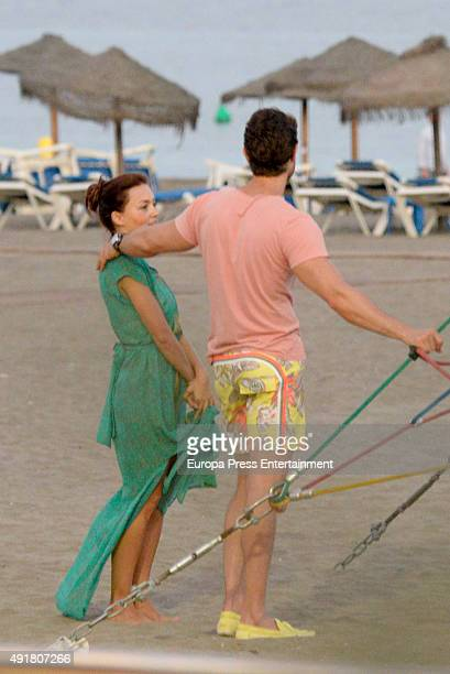 Sebastian Rulli and Angelique Boyer are seen on September 10 2015 in Marbella Spain