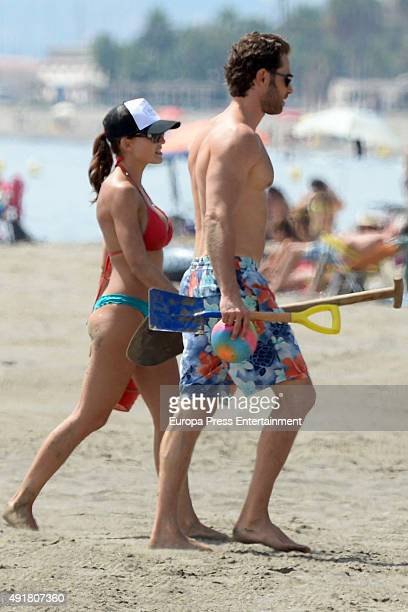 Sebastian Rulli and Angelique Boyer are seen on September 11 2015 in Marbella Spain