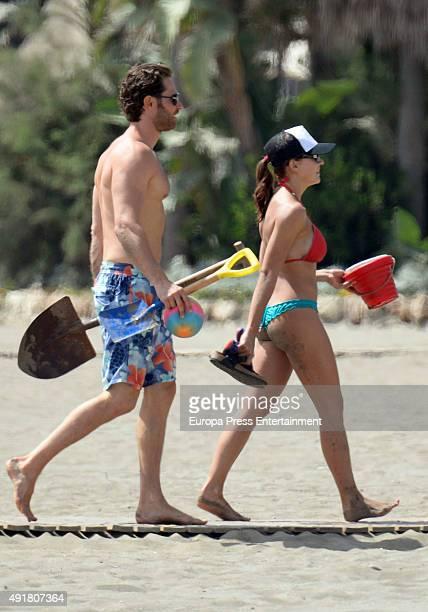 Sebastian Rulli and Angelique Boyer are seen on September 11 2015 in Marbella Spain