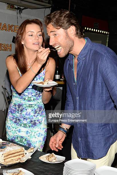 Sebastian Rulli and Angelique Boyer attend the 1st anniversary of his restaurant '1111 Restobar' on September 11 2015 in Estepona Spain